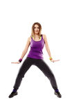Young athletic woman doing dance moves Royalty Free Stock Photography