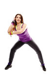 Young athletic woman doing dance moves Stock Photography