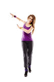 Young athletic woman doing dance moves Royalty Free Stock Photos