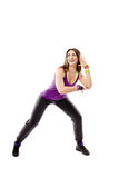 Young athletic woman doing dance moves Royalty Free Stock Images
