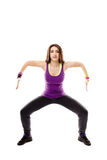 Young athletic woman doing dance moves Stock Photo