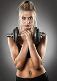 Young athletic woman doing workout Royalty Free Stock Image