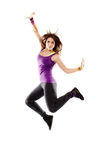 Young athletic woman jumping Royalty Free Stock Photo
