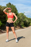 Young athletic woman runner jogger outdoor Royalty Free Stock Photos