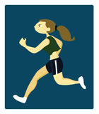 A Young Athletic Woman Running Stock Image