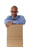 Young attractive African American businessman Royalty Free Stock Image