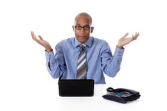 Young attractive African American businessman Stock Photos