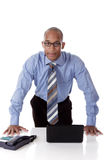 Young attractive African American businessman Royalty Free Stock Photos