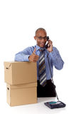 Young attractive African American businessman Stock Photography
