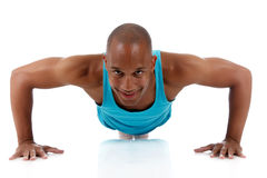 Young  attractive African American man athlete Royalty Free Stock Photos