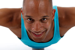 Young  attractive African American man athlete Stock Photos