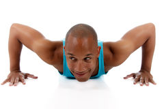 Young  attractive African American man athlete Stock Photo