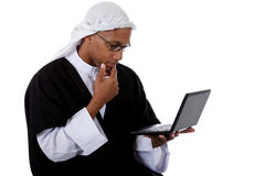 Young attractive African American man, sheikh Royalty Free Stock Image