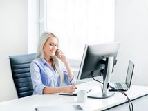 Free Young, Attractive And Confident Business Woman Working In Office Royalty Free Stock Photo - 55838285