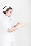 A young attractive asian nurse Stock Photos