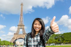Young attractive asian tourist enjoying her Paris trip Stock Photography
