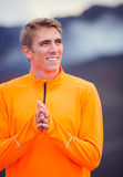 Young attractive athletic man, wearing sporty cloths Royalty Free Stock Photos