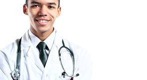 Young attractive black medical doctor Royalty Free Stock Photo