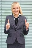 A young and attractive blond businesswoman Royalty Free Stock Photography