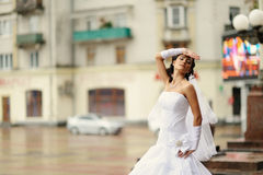 Young attractive bride Stock Photography