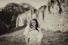 Young attractive bride Royalty Free Stock Images