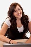 Young attractive brunette twenties caucasian woman Stock Photo