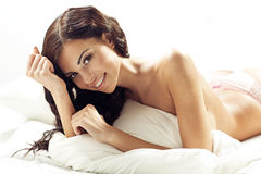 Young attractive brunette woman with fabulous smile Stock Photography