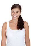 Young attractive brunette woman smiling portrait Royalty Free Stock Image