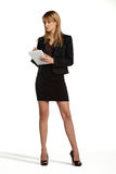 Young attractive business girl standing Stock Image