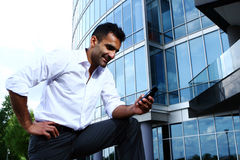 Young and attractive business man Stock Photos