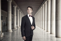 Young and attractive business man in a historic building.  Royalty Free Stock Image
