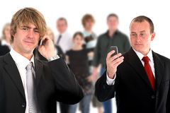Young attractive business men talking 1 royalty free stock photos