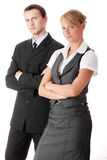 Young attractive business people Stock Images