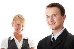 Young attractive business people Royalty Free Stock Photo