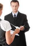 Young attractive business people Royalty Free Stock Image