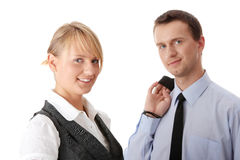 Young attractive business people Royalty Free Stock Images