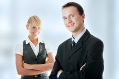 Young attractive business people Royalty Free Stock Photos