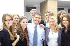 Young attractive business people stock photo