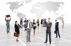 Attractive business people - the elite business team Stock Photos