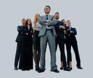 Young attractive business people - the elite business team. Young attractive business people - the elite business team royalty free stock photography