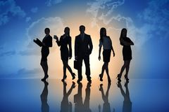 Young attractive business people Stock Photography