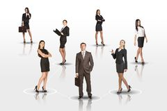 Young attractive business people Royalty Free Stock Photography