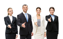 Young attractive business people team Royalty Free Stock Photos