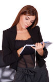 Young attractive business woman Stock Photography