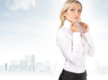 A young and attractive business woman Royalty Free Stock Photos