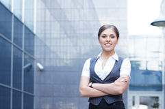 Young attractive business woman Royalty Free Stock Image