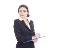 Young and attractive business woman or financial manager Stock Image