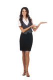 Young attractive business woman isolated on white Stock Photo