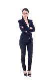Young attractive business woman isolated on white Royalty Free Stock Images