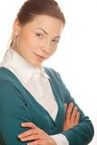 Young attractive business woman. Stock Images